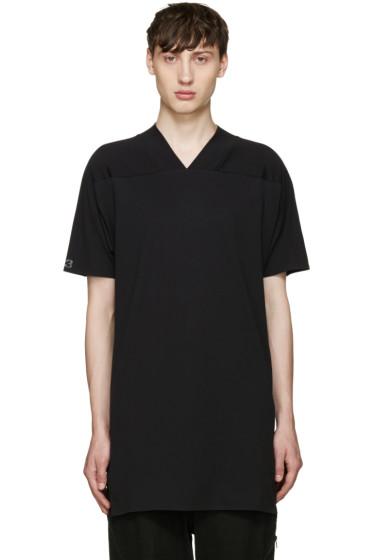 Y-3 - Black Basic V-Neck T-Shirt