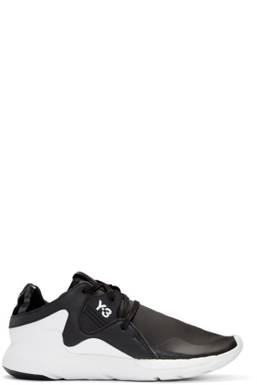 Y-3 - Black QR Run Sneakers