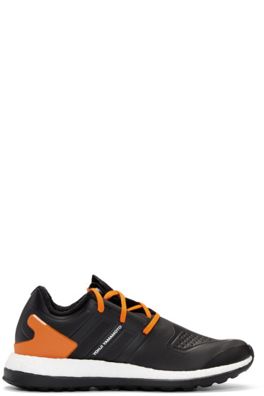 Y-3 - Black & Orange Pureboost ZG Sneakers