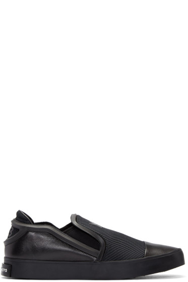 Y-3 - Black Layer Slip-On Sneakers