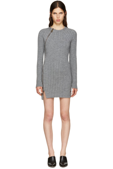 Dsquared2 - Grey Wool Zip Sweater Dress