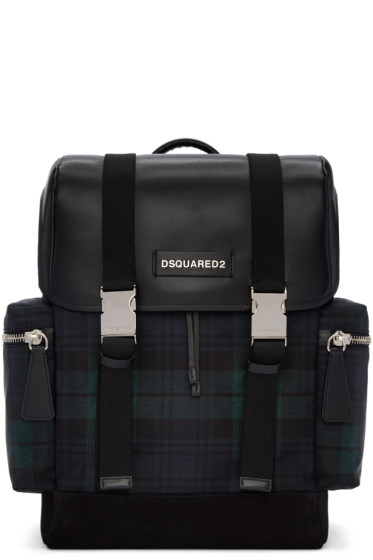 Dsquared2 - Green Tartan Nylon Backpack