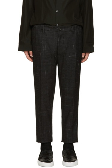 Dsquared2 - Grey Wool Check Dan Trousers