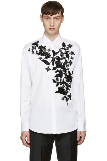 Dsquared2 - White Sequin Flower Shirt