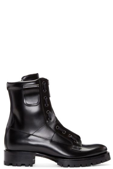 Dsquared2 - Black Leather Asylum Boots