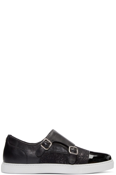 Dsquared2 - Black Monk Strap Sneakers