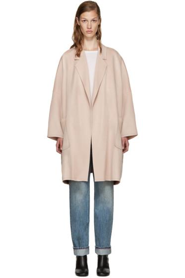 Helmut Lang - Pink Wool Coat