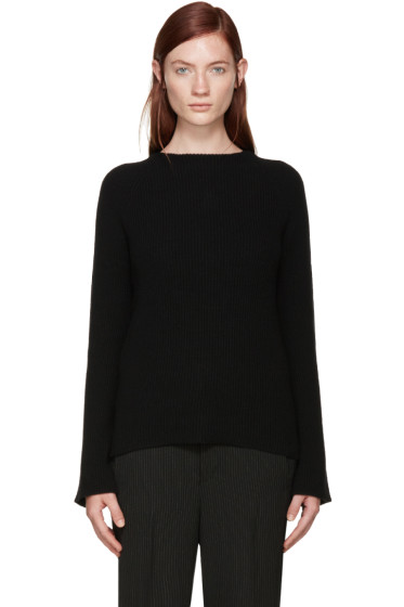 Helmut Lang - Black Open-Back Sweater