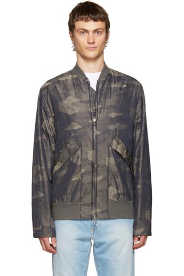 Helmut Lang - Khaki Camouflage Bomber Jacket