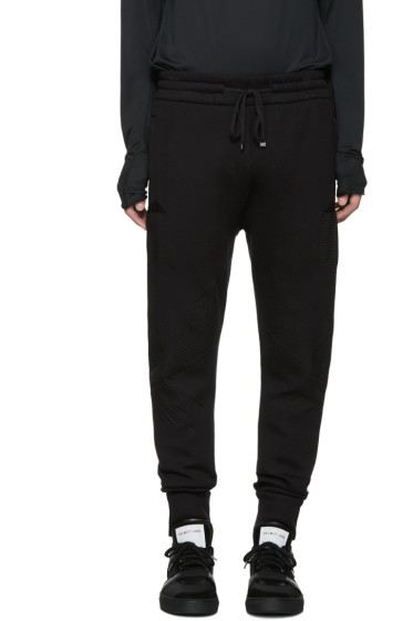 Helmut Lang - Black Bonded Jersey Lounge Pants