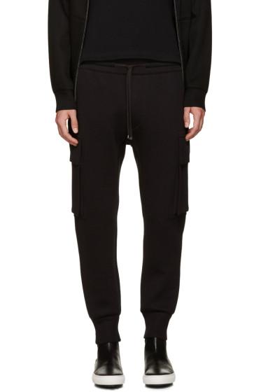 Helmut Lang - Black Curved Leg Cargo Lounge Pants