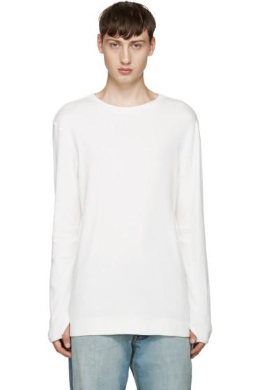Helmut Lang - White Ribbed T-Shirt