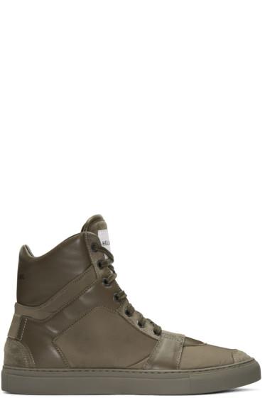 Helmut Lang - Brown Heritage High-Top Sneakers