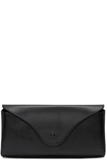 Maison Margiela - Black Leather Oversized Clutch