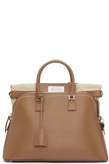 Maison Margiela - Brown Leather Duffle Bag