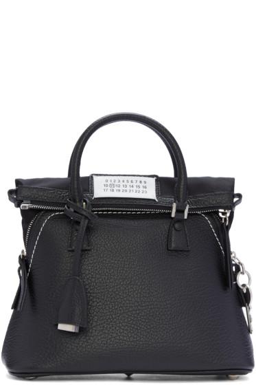 Maison Margiela - Black Grained Leather Bag