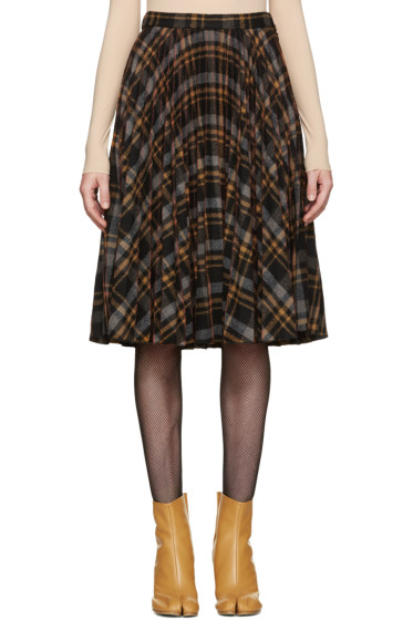 Maison Margiela - Multicolor Tartan Pleated Skirt