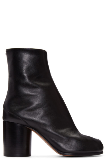 Maison Margiela - Black Leather Tabi Boots