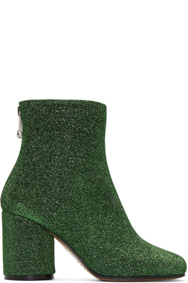Maison Margiela - Green Metallic Ankle Boots