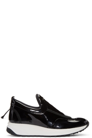 Maison Margiela - Black Patent Leather Sneakers