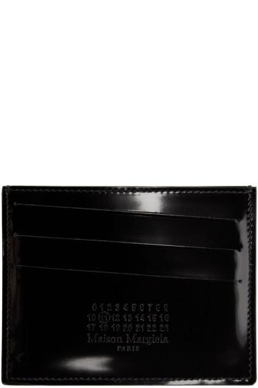 Maison Margiela - Black Patent Leather Card Holder