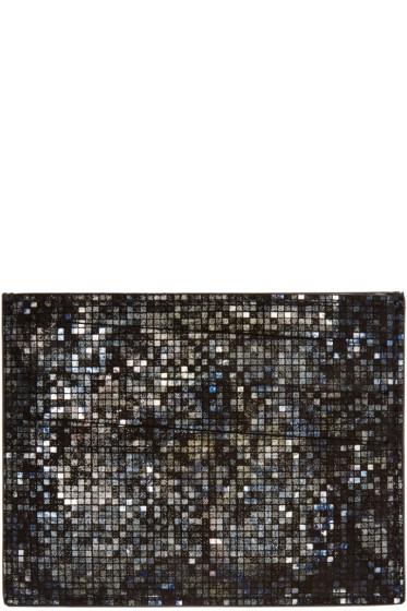 Maison Margiela - Black Metallic Mosaic Card Holder