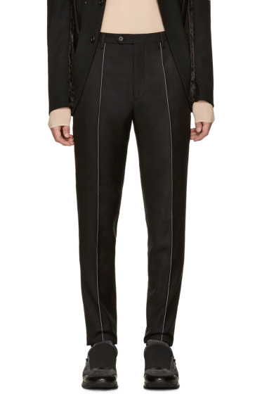 Maison Margiela - Black Contrast Seams Trousers