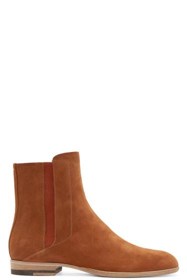 Maison Margiela - Camel Suede Chelsea Boots