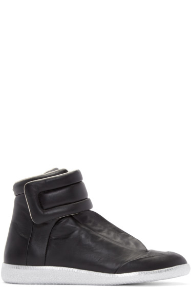 Maison Margiela - Black & Silver Future High-Top Sneakers