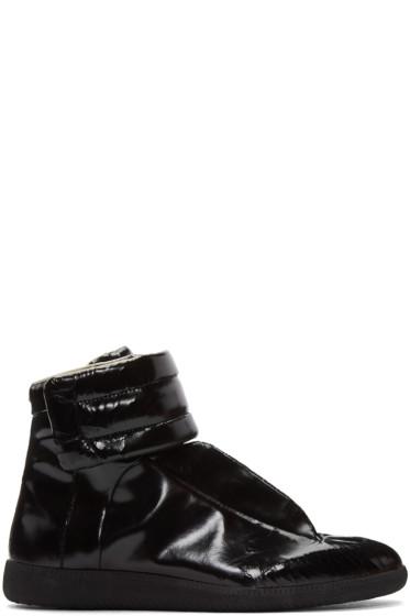 Maison Margiela - Black Cracked Future High-Top Sneakers