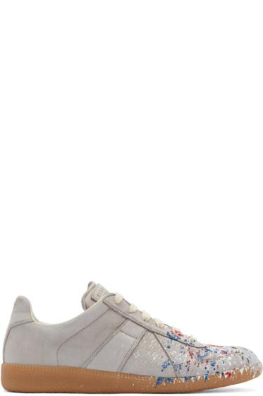 Maison Margiela - Grey Paint Splatter Replica Sneakers