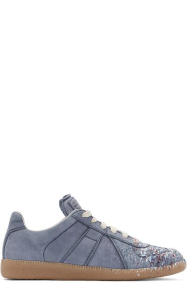 Maison Margiela - Blue Paint Splatter Replica Sneakers