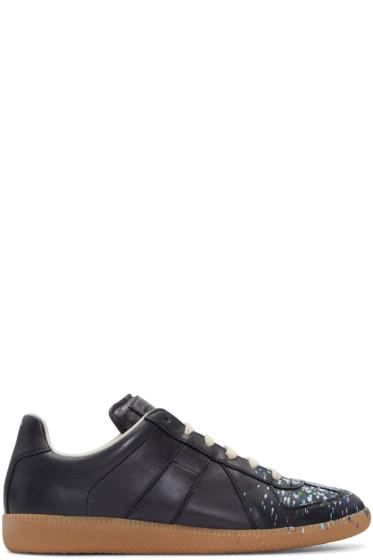 Maison Margiela - Black Paint Splatter Replica Sneakers