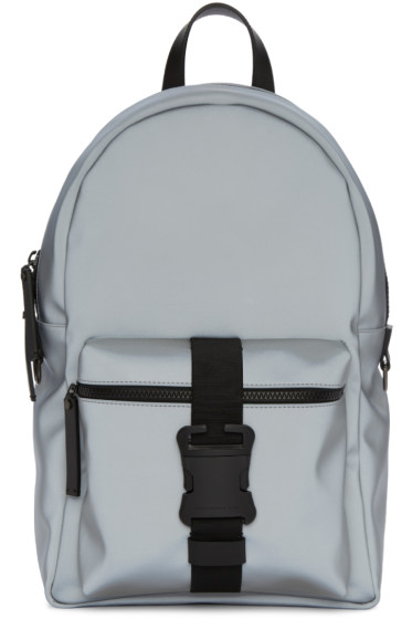 Christopher Kane - Grey Reflective Nylon Backpack