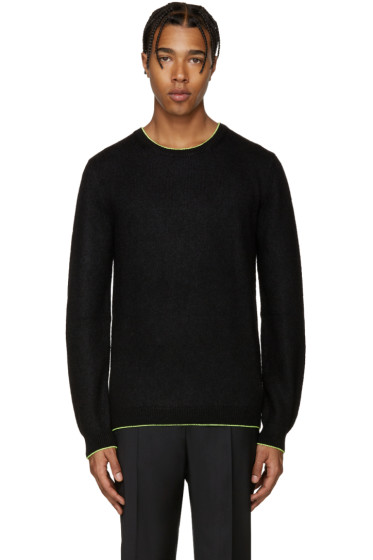 Christopher Kane - Black Fluorescent Trim Sweater