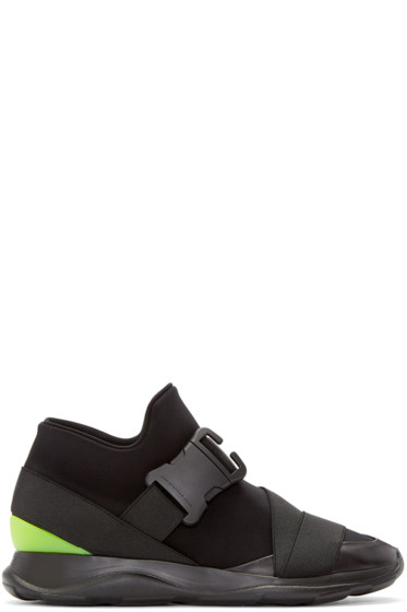 Christopher Kane - Black Neon Spoiler High-Top Sneakers