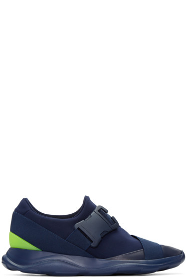 Christopher Kane - Navy Neon Spoiler Sneakers