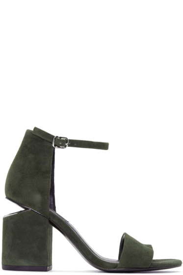 Alexander Wang - Green Abby Sandals
