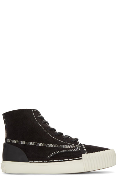 Alexander Wang - Black Suede Perry High-Top Sneakers