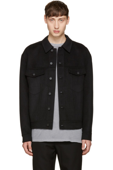 Alexander Wang - Black Wool Oversized Jacket
