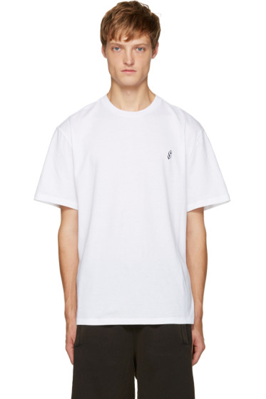 Alexander Wang - White Dollar Sign T-Shirt