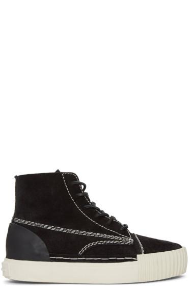 Alexander Wang - Black Suede Perry High-Top Sneakers
