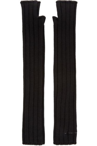 MM6 Maison Margiela - Black Fingerless Gloves