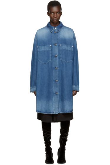 MM6 Maison Margiela - Blue Long Denim Jacket