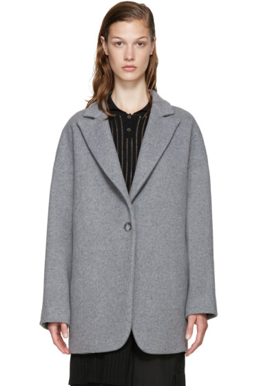 MM6 Maison Margiela - Grey Wool Coat
