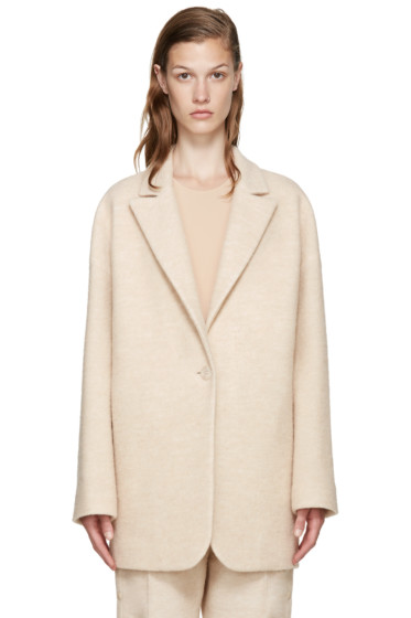MM6 Maison Margiela - Beige Wool Coat