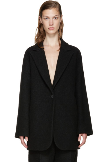 MM6 Maison Margiela - Black Wool Coat