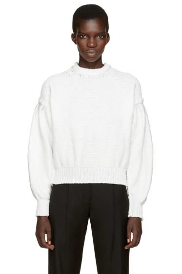 MM6 Maison Margiela - White Oversized Sweater