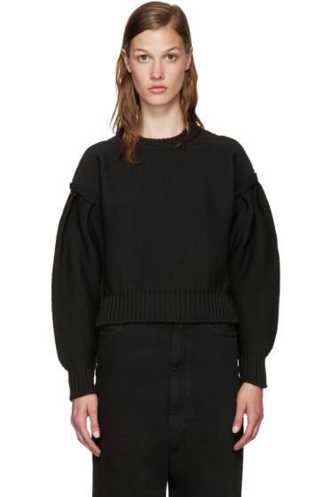 MM6 Maison Margiela - Black Oversized Sweater