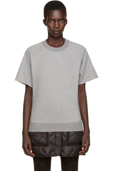 MM6 Maison Margiela - Grey Short Sleeve Sweatshirt